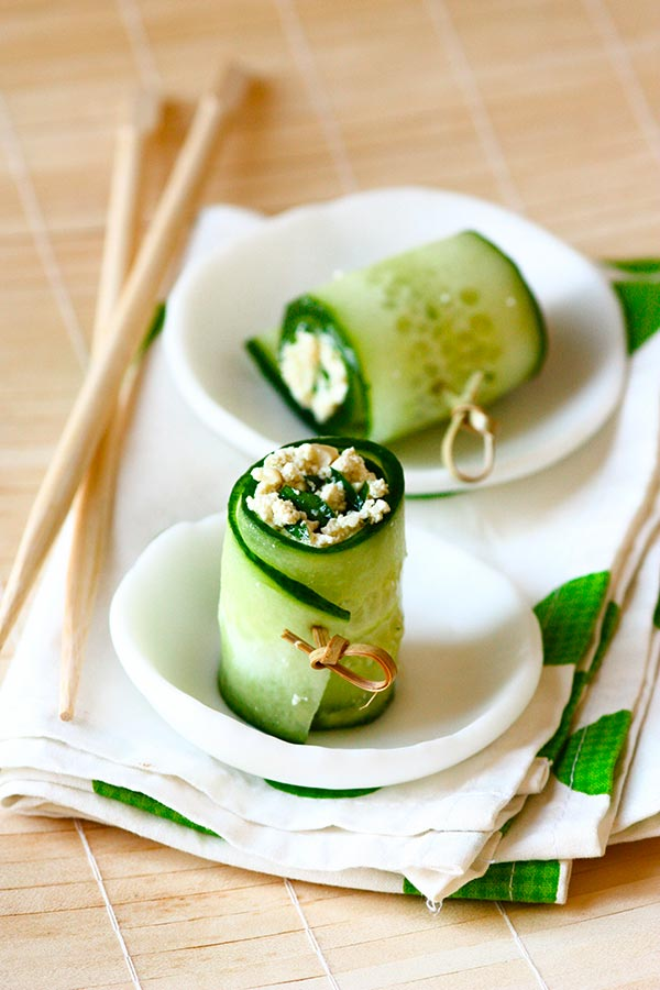 Makis de concombre et tofu