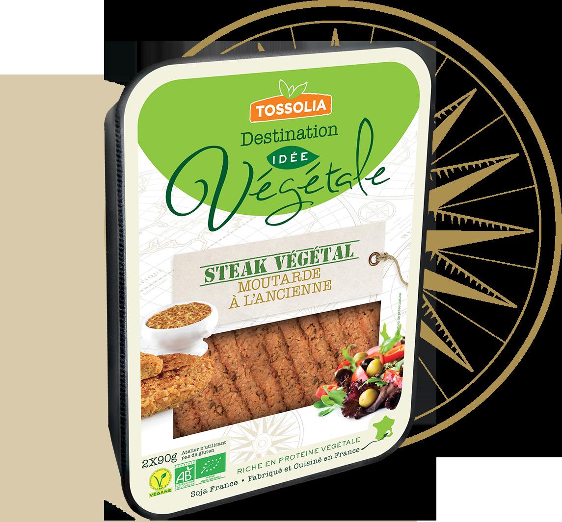 Steak végétal moutarde à l'ancienne