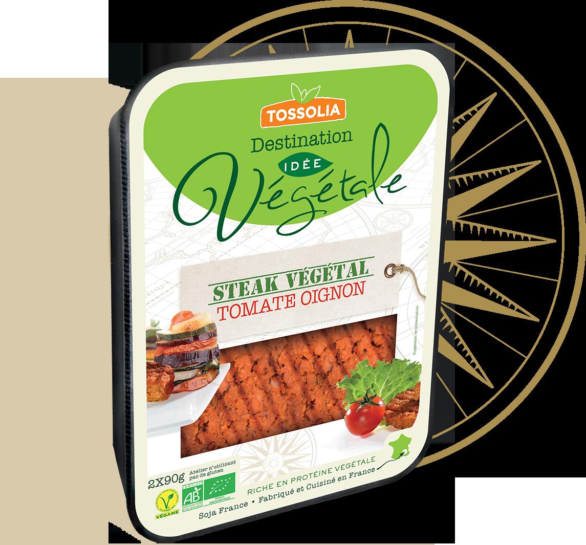 Steak végétal tomate oignon