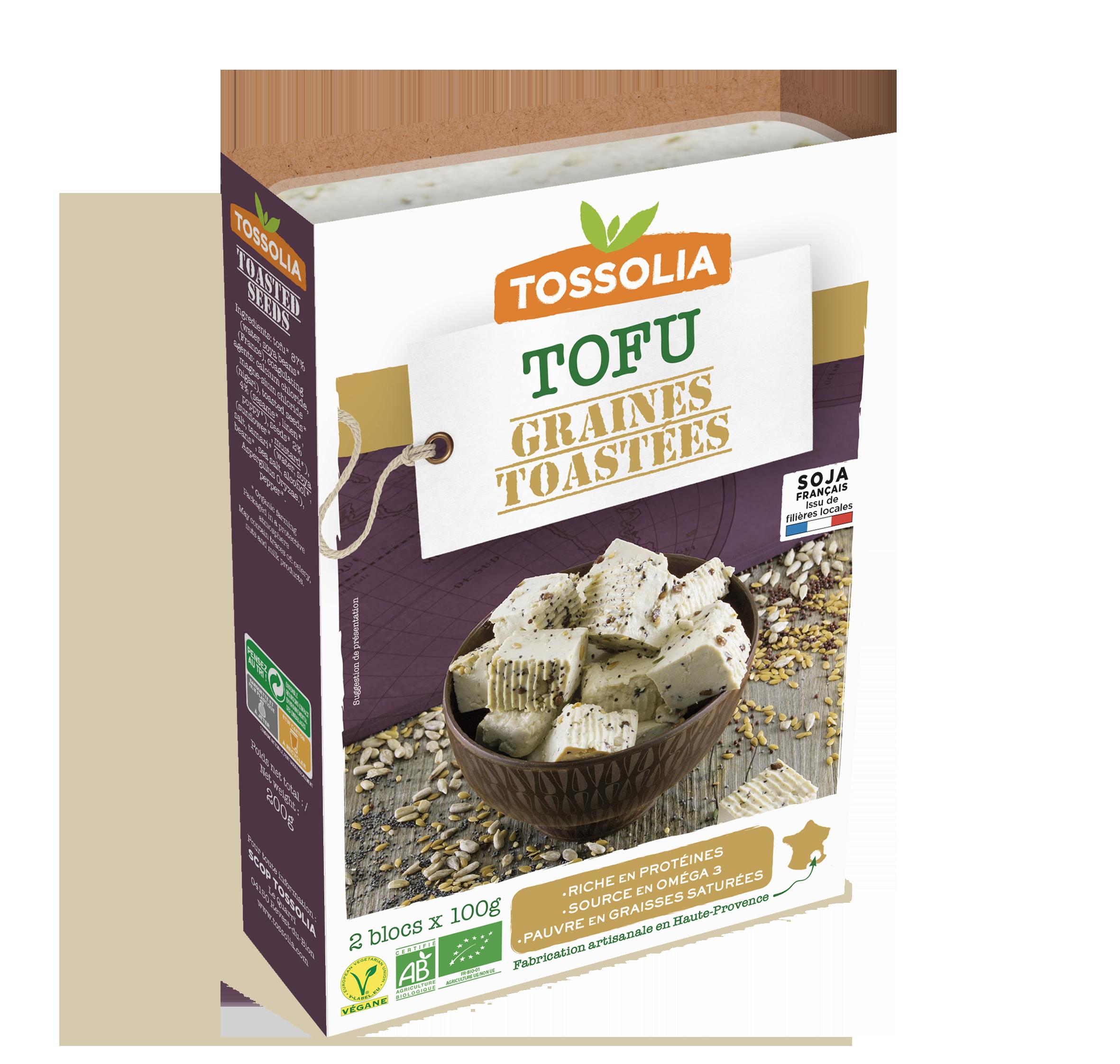 Tofu graines toastées