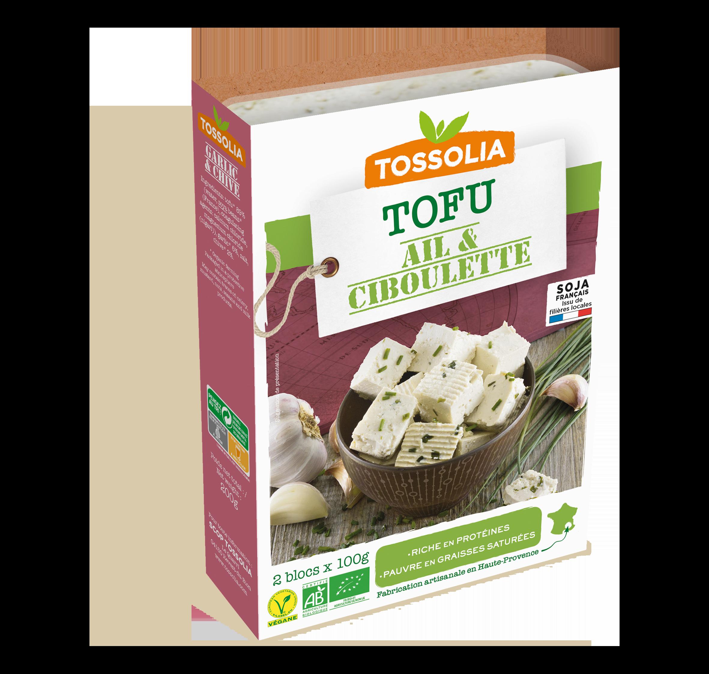 Tofu ail & ciboulette