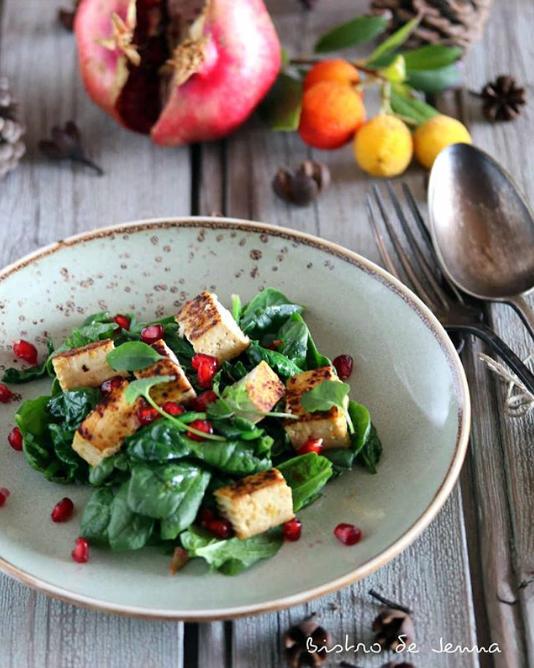Salade d'épinard & Tofu