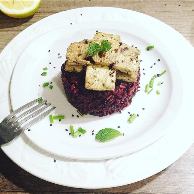 Tofu aux algues et son riz parfumé