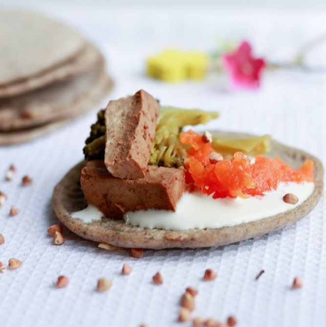 Blinis de sarrasin et tofu tamari