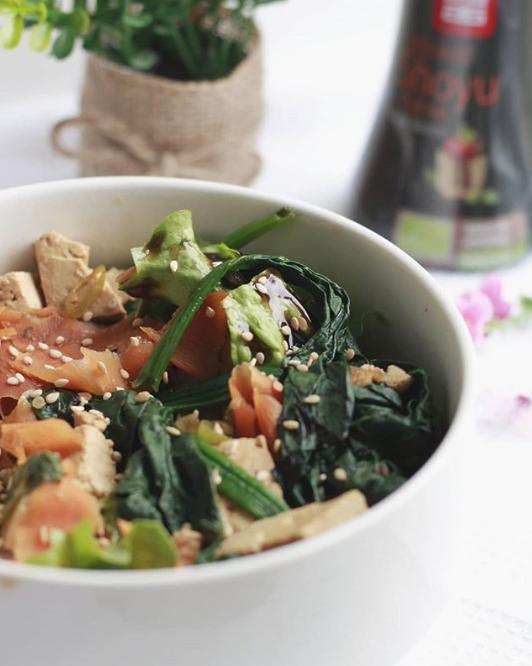 Wok de légumes au tofu mariné