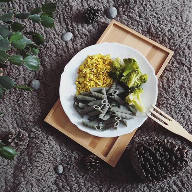 Pennes aux algues et tofu indien