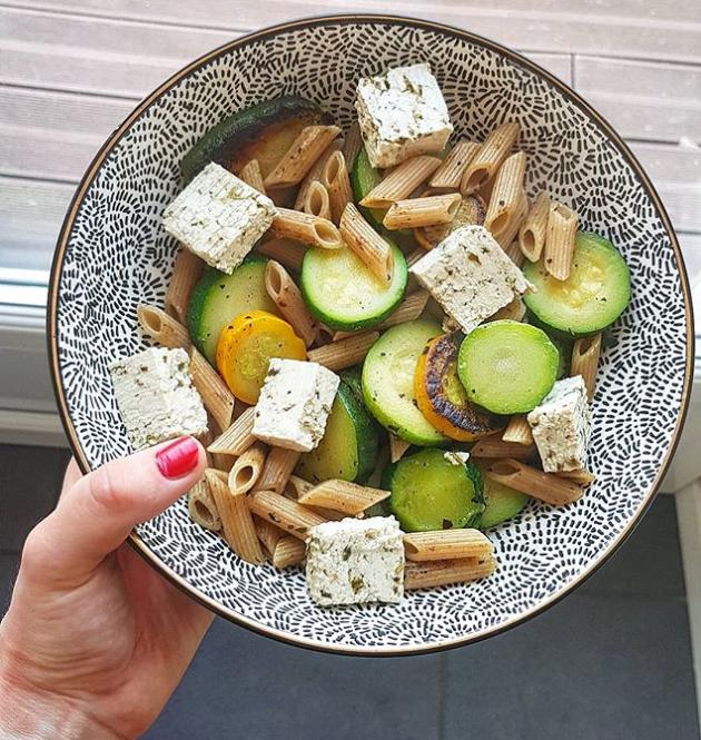 Tofu basilic et pennes