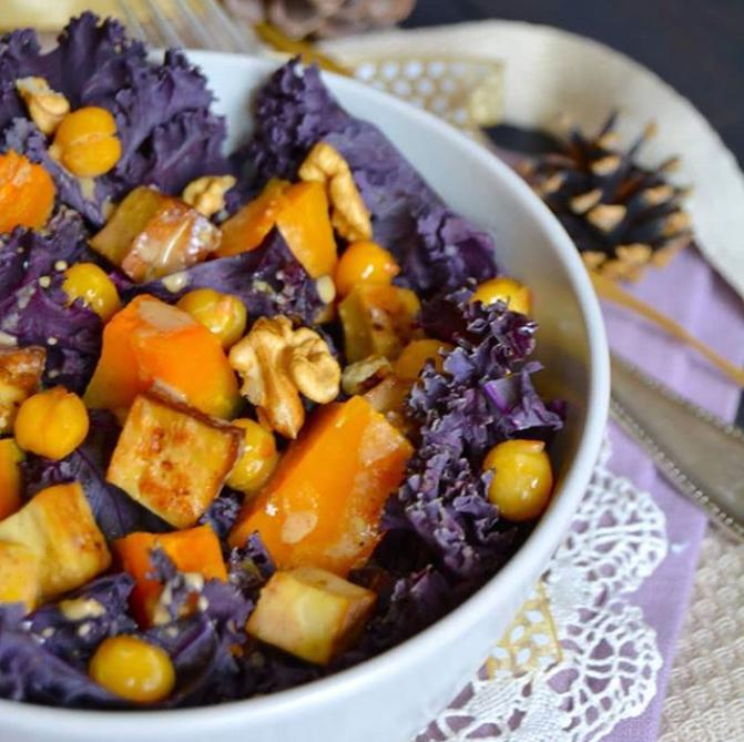 Chou kale & tofu laqué