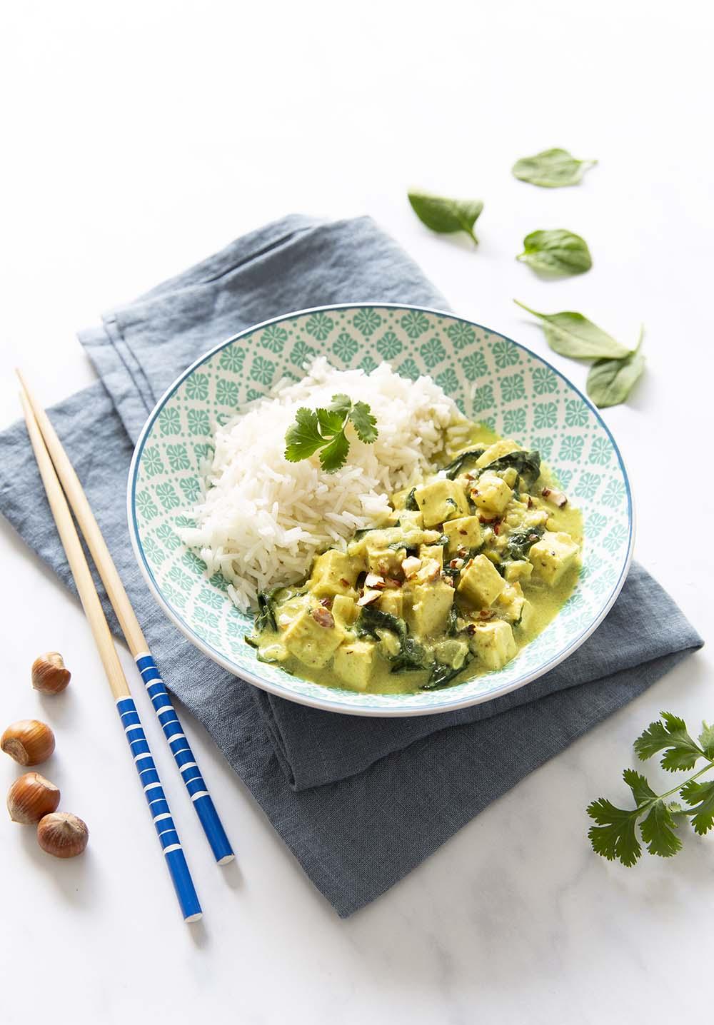 Curry de tofu nature