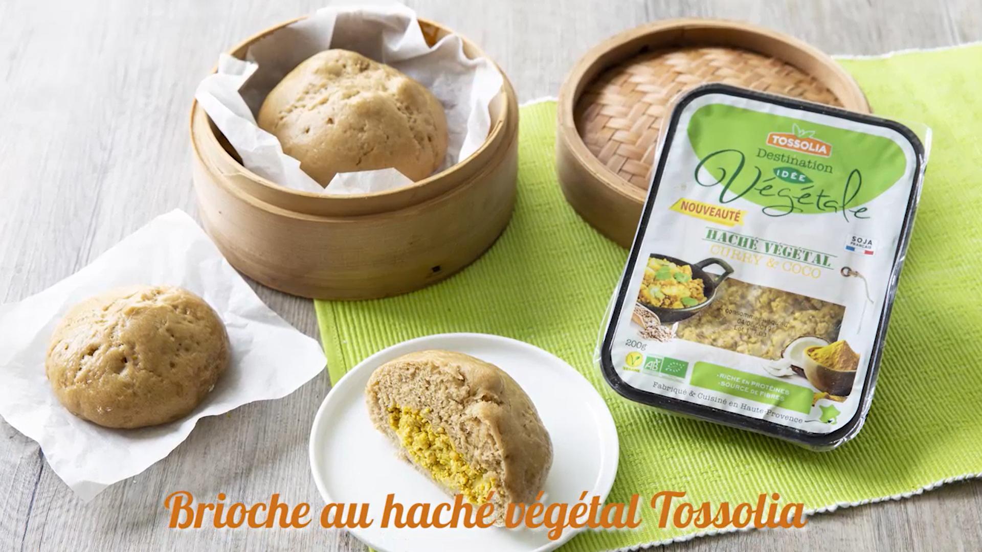 Brioche vapeur haché végétal curry-coco
