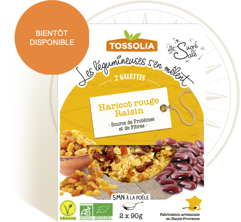 Galettes haricot rouge raisin