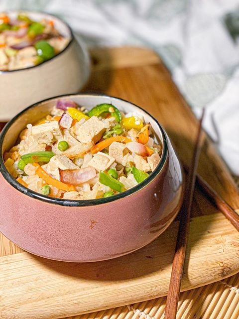 Riz cantonais vegan