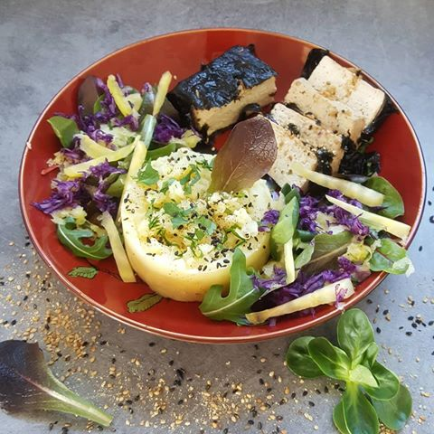 Papillote de tofu nature