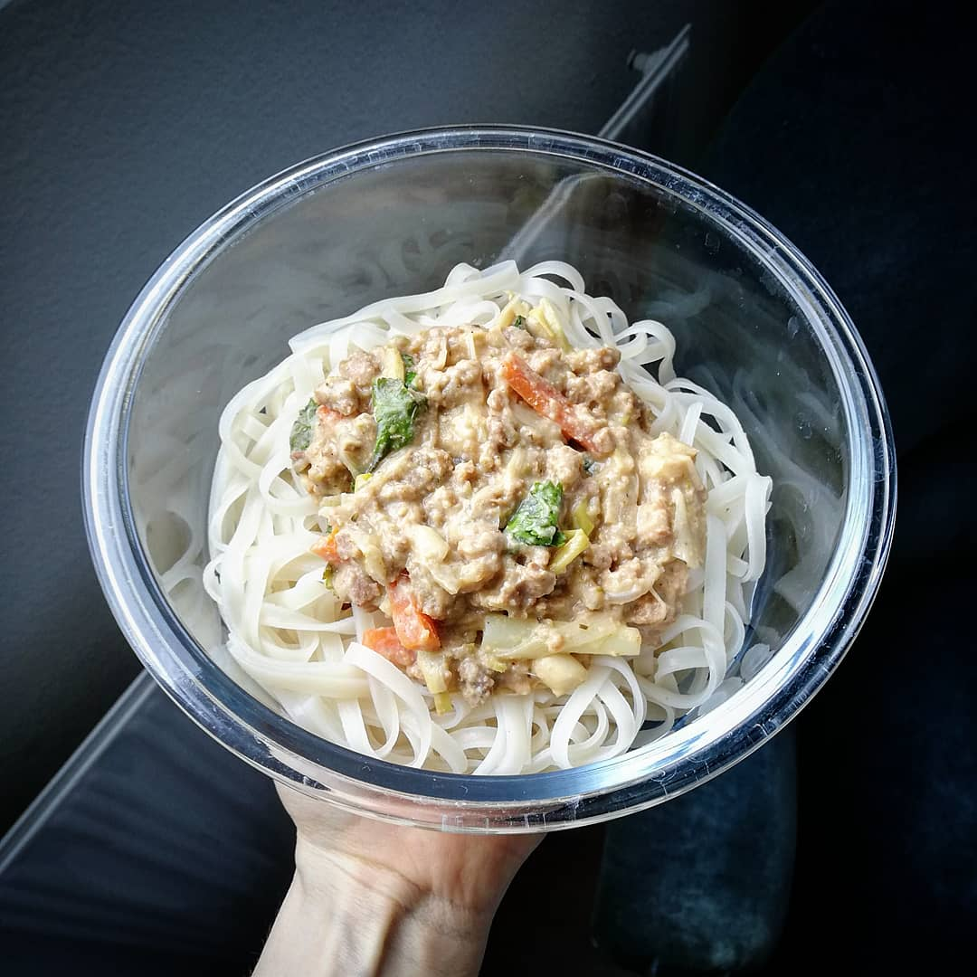 Pad thaï et burger végétal