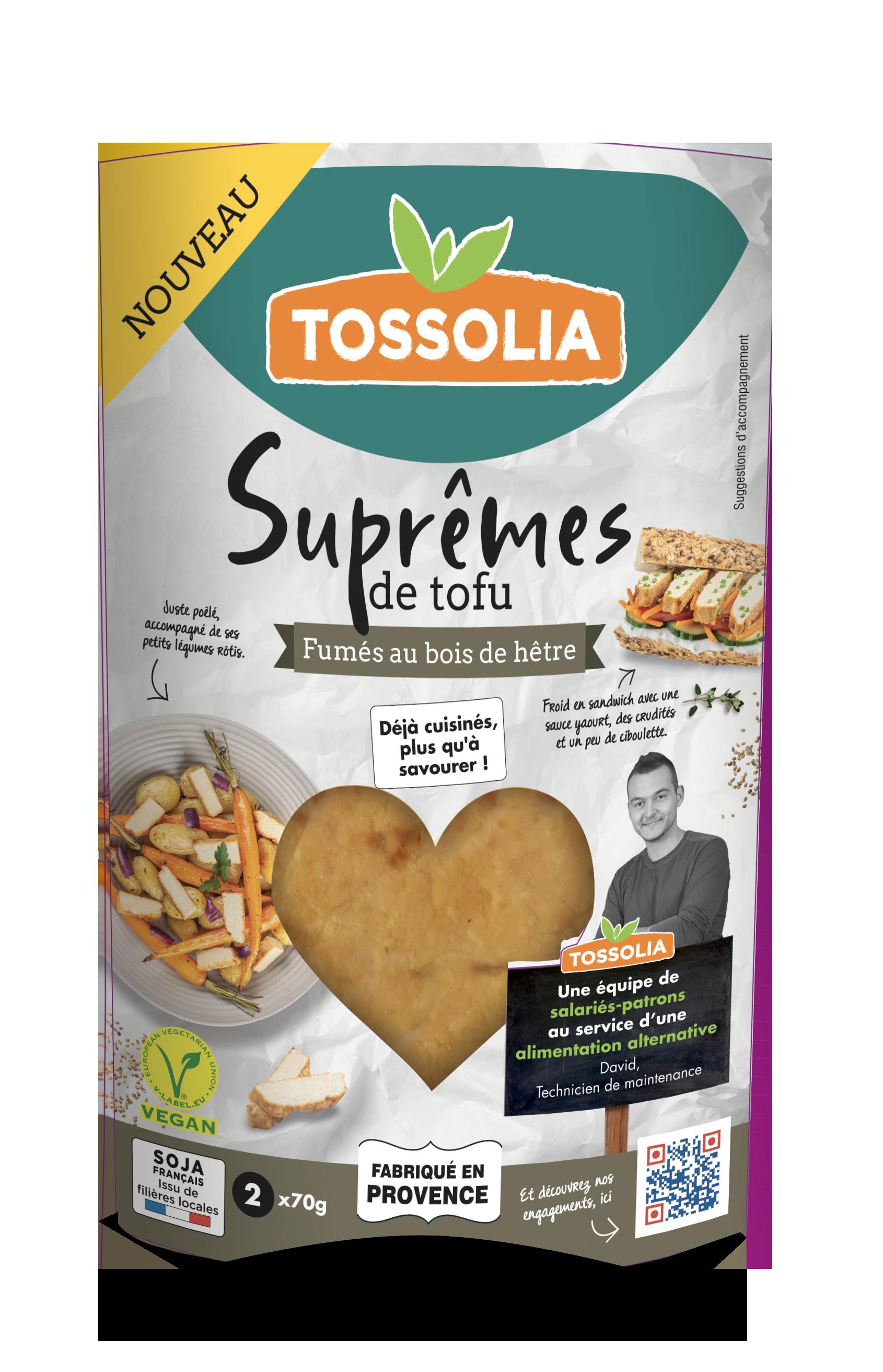 Suprêmes de tofu fumés au bois de hêtre