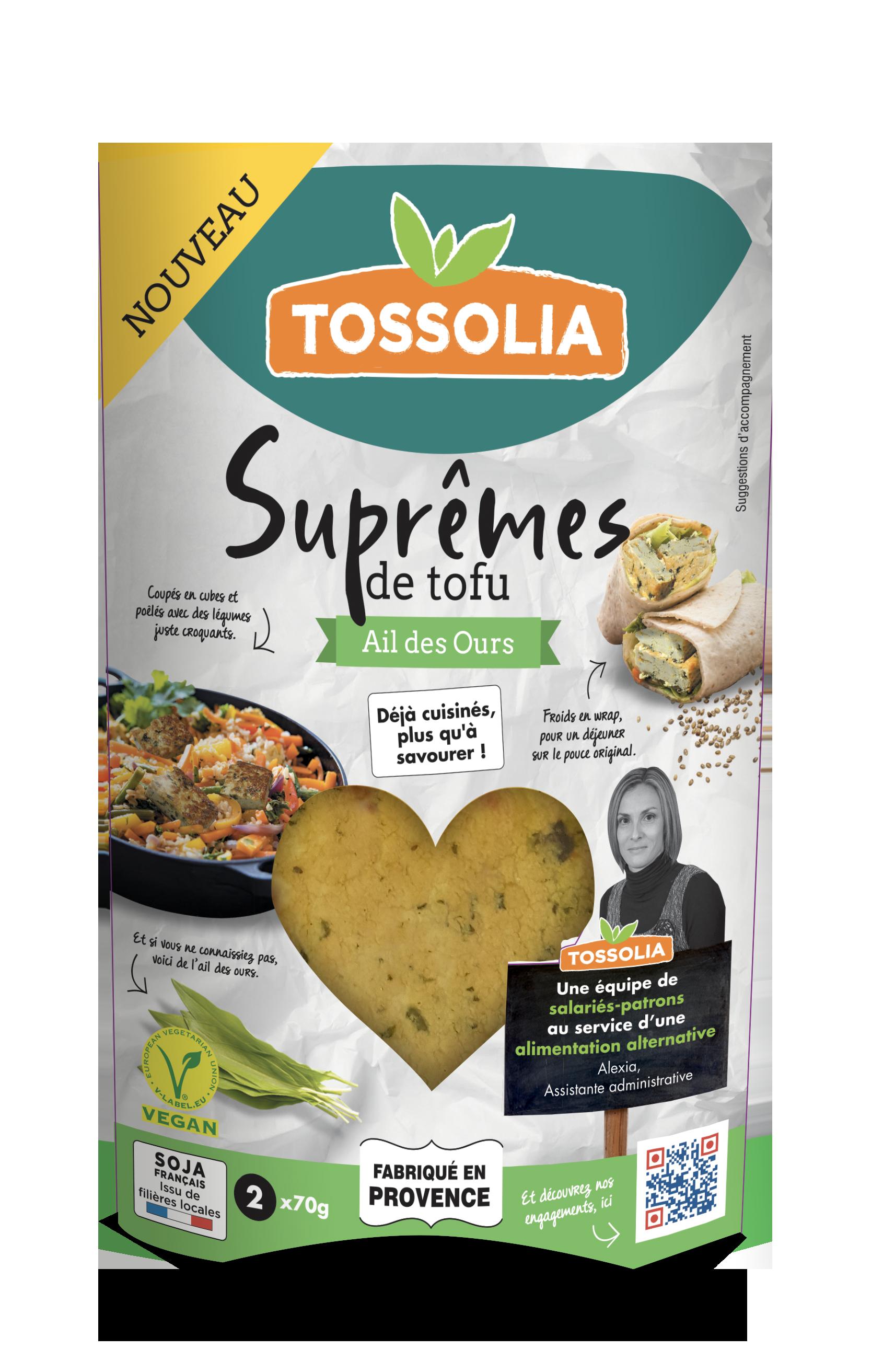 Suprêmes de tofu ail des ours