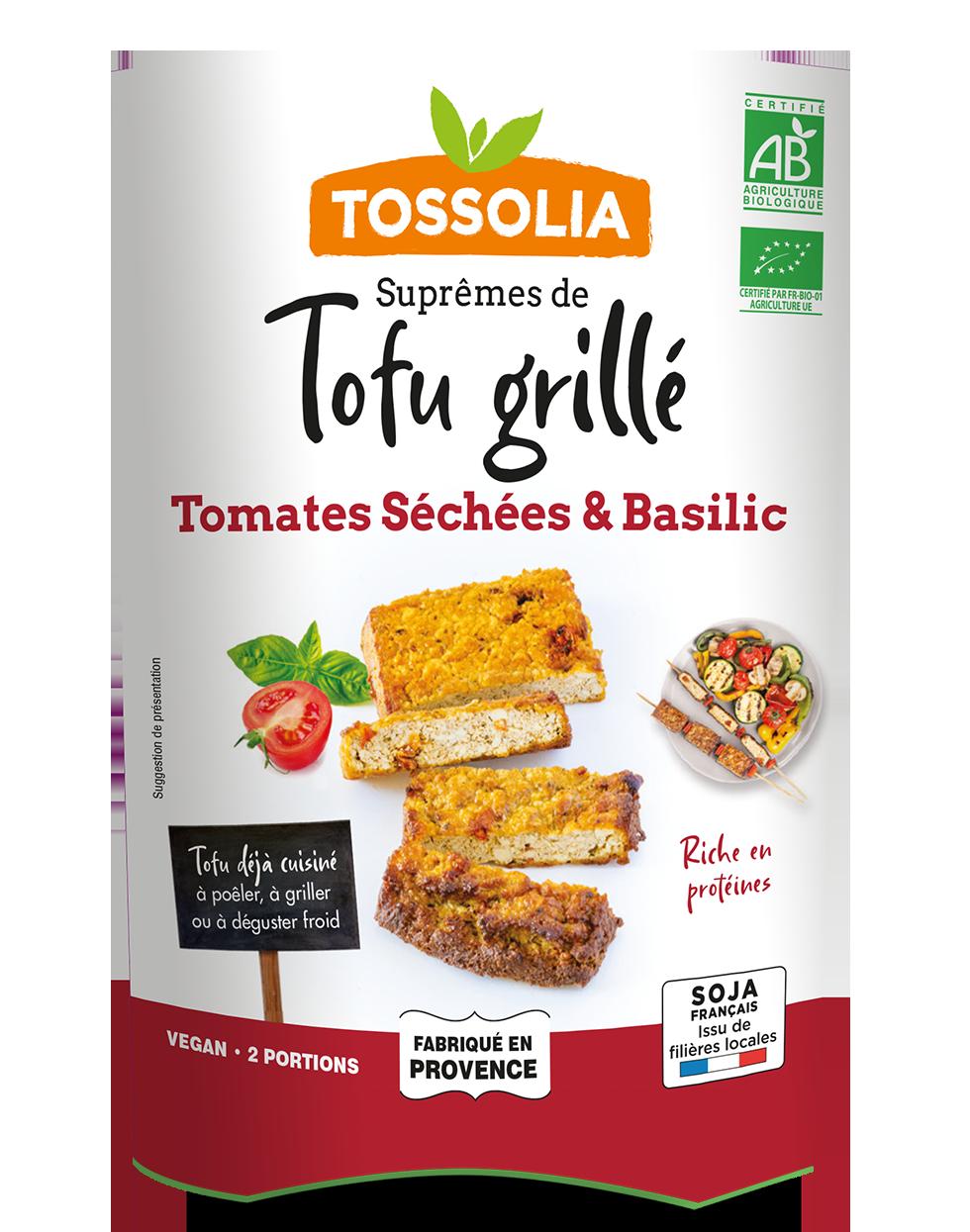 Suprêmes de Tofu Grillé tomates séchées & basilic