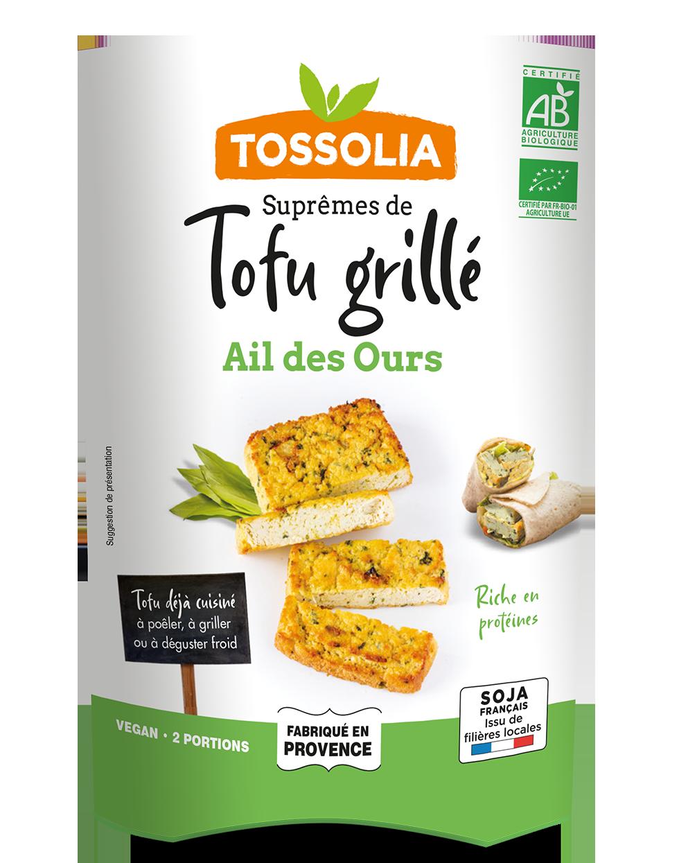 Suprêmes de Tofu Grillé ail des ours