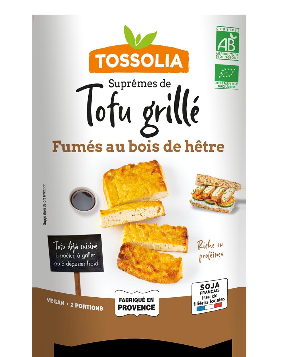 Suprêmes de Tofu Grillé fumés au bois de hêtre