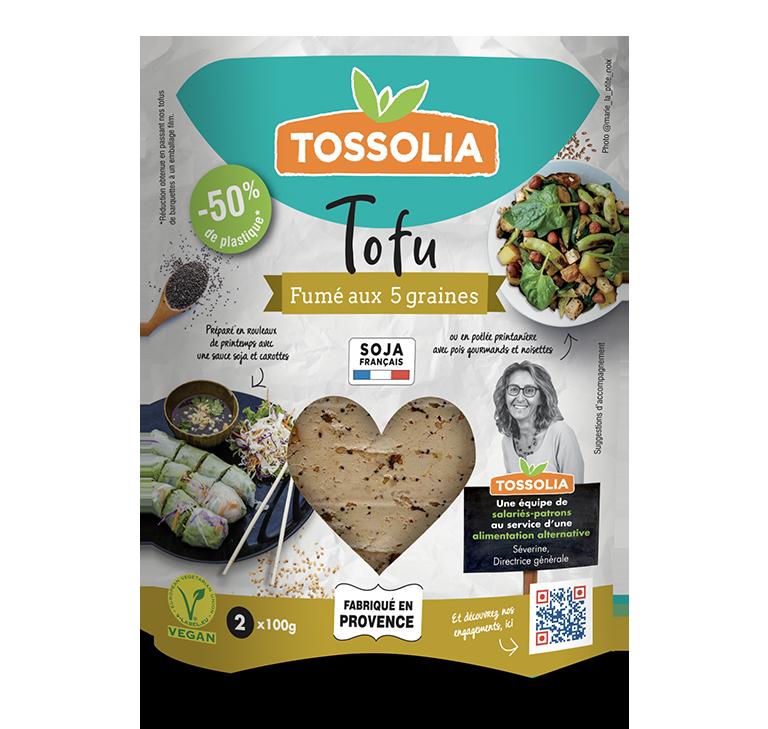 Tofu fumé au 5 graines