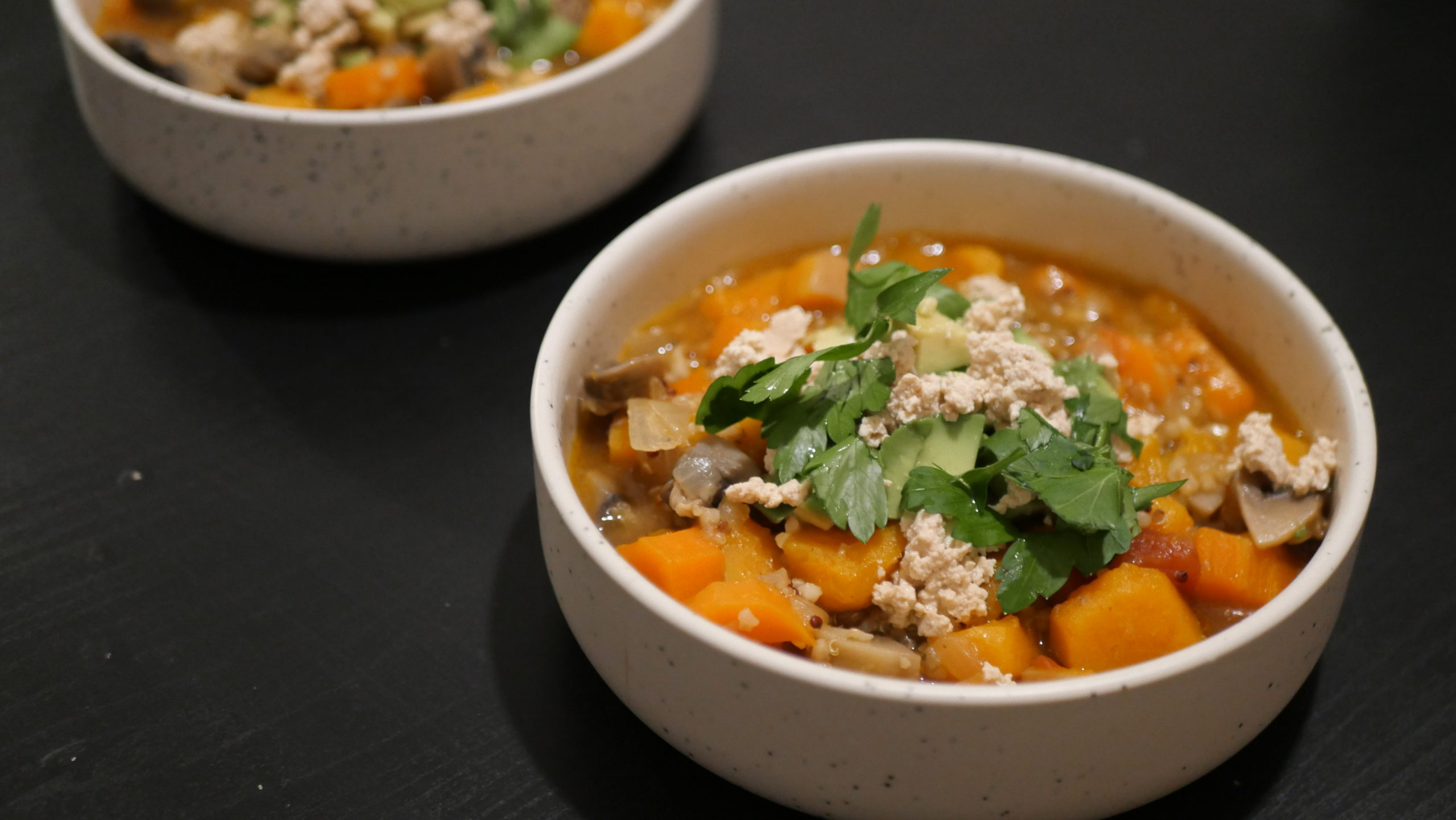 Minestrone de quinoa