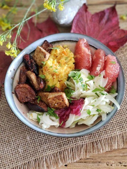 Bowl aux figues et tofu nature