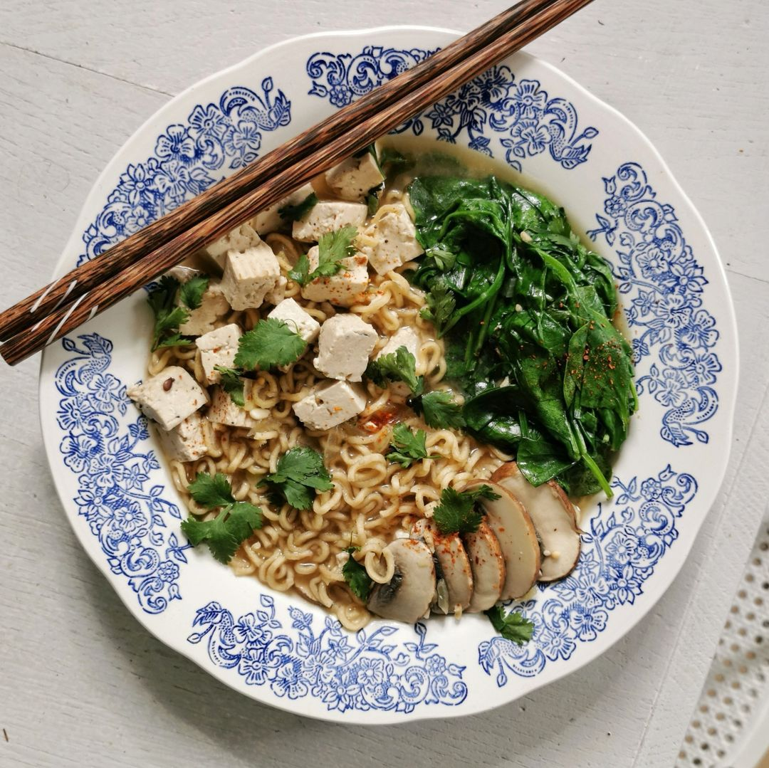 Noodles bowl vegan